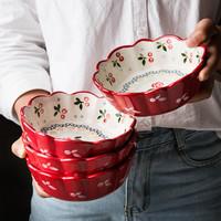摩登主妇 陶瓷樱桃碗创意个性芋圆碗