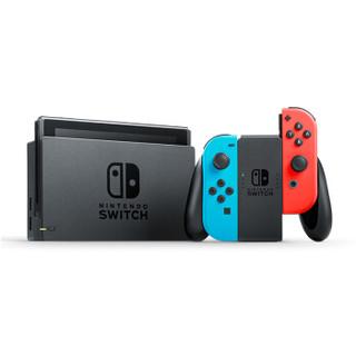 Nintendo 任天堂 Switch 国行续航加强版 红蓝主机+HORI轻薄硬壳保护包