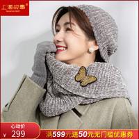 上海故事故宫宫廷文化联名款围巾手套毛线帽三件套女秋冬保暖