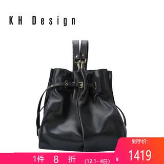 KHDesign明治女包真皮大容量双肩包休闲2019新款旅行包背包女时尚