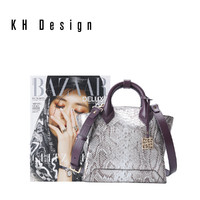 KHDesign明治女包真皮手提包时尚宴会包单肩包通勤包气质大包新款