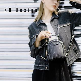 KH Design 明治 K1243 时尚铆钉迷你双肩包