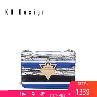 KHDesign明治女包时尚小方包真皮拼色斜挎包2019新款女包百搭小包