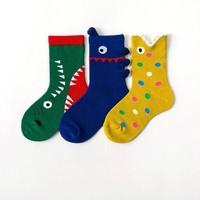 CARAMELLA 儿童中筒袜 3双装 *2件