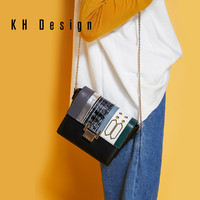 KH Design明治轻奢女包真皮小方包链条新款小包单肩包斜挎包