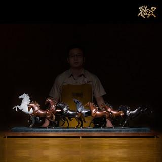 铜师傅 全铜摆件《八骏》家居饰品 铜工艺品  装饰品  客厅摆件