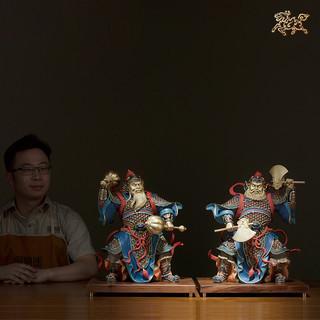 铜师傅 全铜摆件 《门神之二(彩绘版)》家居饰品 铜工艺品