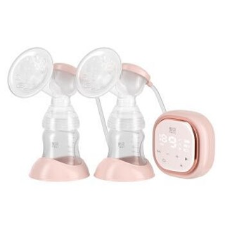 新贝 双边电动吸奶器带哺乳灯 吸乳器带充电锂电池(送奶瓶消毒器)