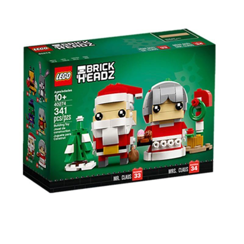 LEGO 乐高方头仔系列 40274 圣诞节老爷爷和老奶奶套装
