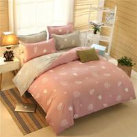 床上用品植物羊绒棉磨毛四件套被套床单