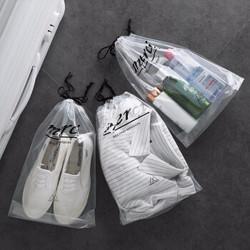 米良品  防水透明抽绳束口袋 5个装