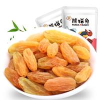 熊猫兔 新疆特产黄葡萄干 树上黄葡萄干蜜饯果干250g/袋 *14件