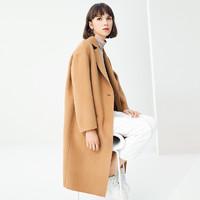 GOLDFARM/高梵  G1180095C 女士雙面絨羊毛呢大衣