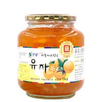 韩国进口 全南 蜂蜜柚子茶1kg 含丰富果肉 冲饮果酱 冷热皆可 *4件