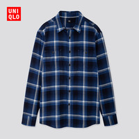 UNIQLO 优衣库 421203 男士法兰绒格子衬衫