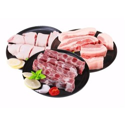 COREYUMMY 肋排猪蹄五花肉组合 1300g *3件