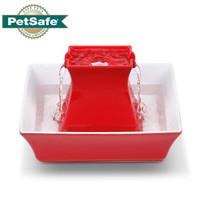 PetSafe贝适安Drinkwell陶瓷款多宠物饮水机自动双层猫咪狗狗智能喷泉2L