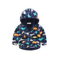 I.K 印象童年 儿童恐龙图案连帽棉衣