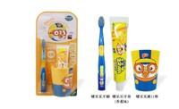 啵乐乐Pororo宝露露儿童牙具三件套 (水果牙膏*1+儿童牙刷*1+漱口杯*1)套装3岁以上 *3件
