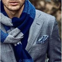 功能与颜值兼备,这些男士围巾一条可以帅气地过冬!