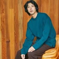 UNIQLO 优衣库 421250 男装罗纹圆领针织衫
