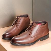 AOKANG 奥康 男士加绒保暖商务休闲高帮棉鞋办公室皮鞋