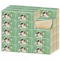 丝飘(SIPIAO)抽纸 300张竹浆餐巾纸本色纸巾 24包整箱装