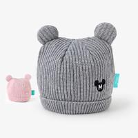 英氏儿童套头帽子男女宝秋冬针织迪士尼帽子