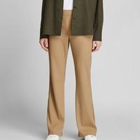 UNIQLO 优衣库 422688 女士罗纹喇叭裤