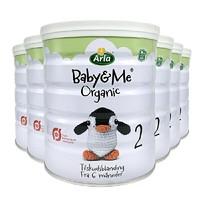 Arla 爱氏晨曦 有机婴儿配方奶粉 2段 600g 6罐装