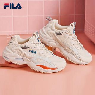 FILA  TRACER 经典跑鞋2019新款老爹鞋女休闲鞋跑步鞋运动鞋女鞋 奶油白-GD 37.5