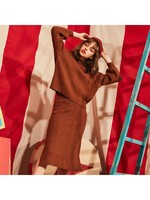 拉夏贝尔毛衣裙套装显瘦新款韩版气质连衣裙两件套 2T000475
