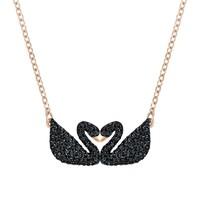 SWAROVSKI 施华洛世奇 Iconic Swan黑天鹅 女士项链