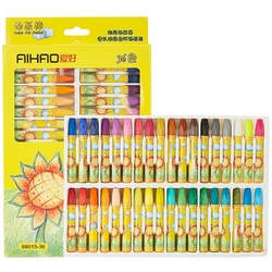 AIHAO 爱好 油画棒 36色 送勾线笔+画图本