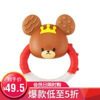 日本万代启蒙(BANDAI)小熊学校系列婴儿牙胶手摇铃
