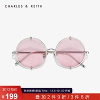 CHARLES&KEITH 配饰 CK3-31280360金属时尚圆形边框饰女士太阳镜 *3件