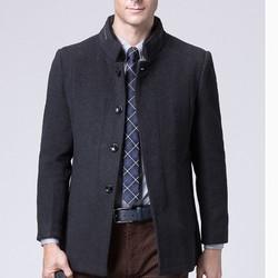 ROMON 罗蒙 DY18HF12692 男士羽绒内胆羊毛呢大衣