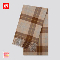 UNIQLO 优衣库 UQ420270000 格纹围巾