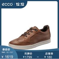 ECCO爱步鞋子男2019春夏新款复古男鞋休闲鞋 科林2.0 536244 棕色53624451304 41