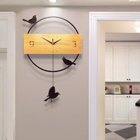 钟表挂钟客厅创意现代简约北欧石英钟大气静音个性家用时尚时钟表