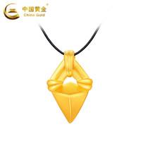 中国黄金吊坠几何足金女款金吊坠新款珠宝首饰定价 *3件