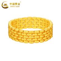 中国黄金黄金手链表链纹足金手链金手链男新款珠宝首饰定价