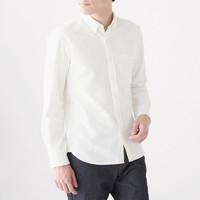 MUJI 无印良品 M9AC766 男士纽扣领衬衫