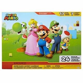 Nintendo 任天堂 任天堂主题降临节日历*马里奥圣诞节日历,含 17 个铰接式 2.5 英寸人偶和 7 个配件,24 天惊喜倒计时与弹出环境