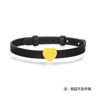 China Gold 中国黄金 转运珠黄金转运珠复古闪耀转运珠手链