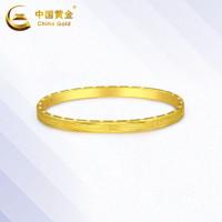 中国黄金手镯金手镯贵妃镯车花开口手镯金手镯女新款珠宝首饰定价