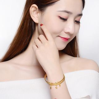 China Gold 中国黄金 足金黄金手镯心系三生金镯子