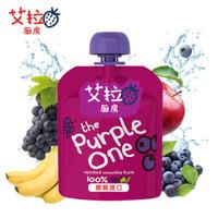 艾拉厨房(ELLA'S)紫色混合果泥 90g 香蕉树莓黑加仑 *8件