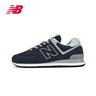 New Balance NB官方男鞋女鞋ML574EGN运动鞋时尚复古鞋休闲鞋 深蓝色ML574EGN 37