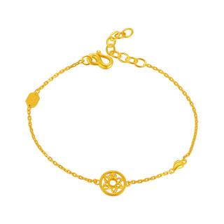 China Gold 中国黄金 黄金手链女足金向阳花之自由手链